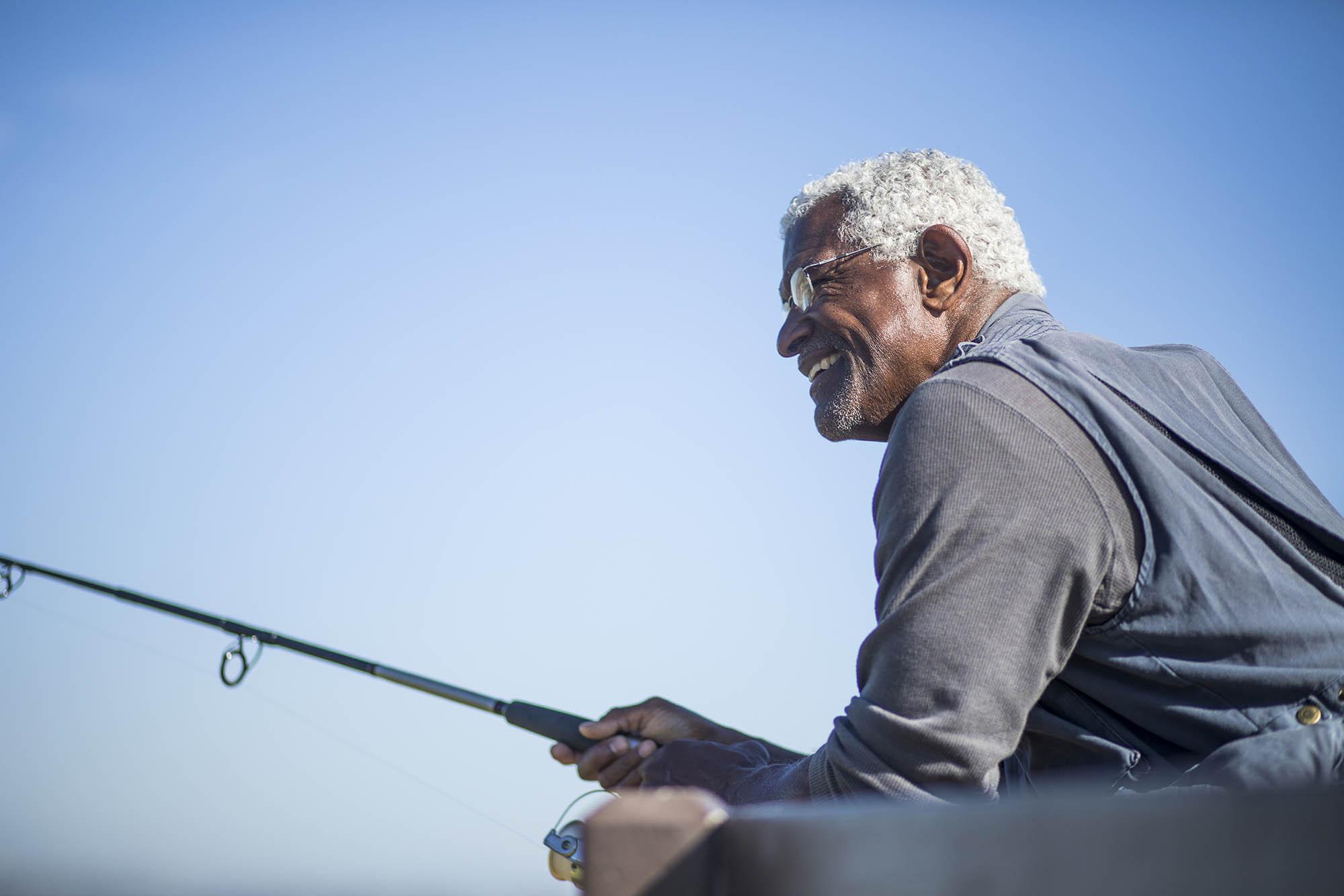 Vericatch fisherman with fishing pole
