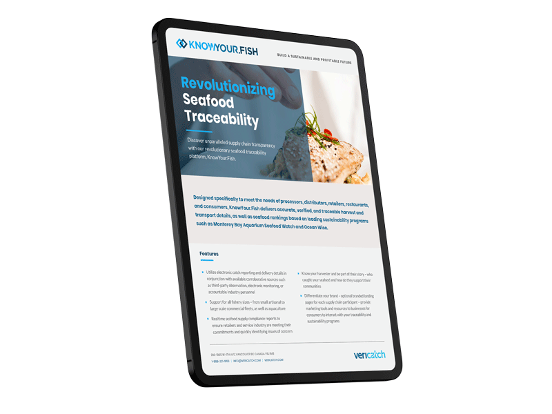 seafood traceability software brochure
